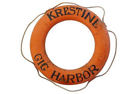 Nautical Gig Harbor Life Preserver