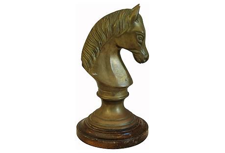 Midcentury Brass Horse Figure Statue