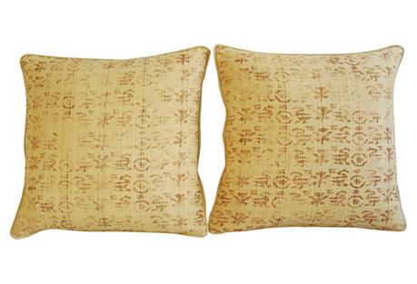Rose Tarlow Linen & Velvet Pillows, Pr