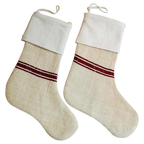 European Textile Christmas Stockings, Pr