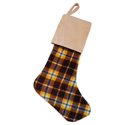 Scottish Tartan Wool Christmas Stocking