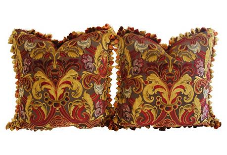 Highland Court Velvet/Mohair Pillows, Pr