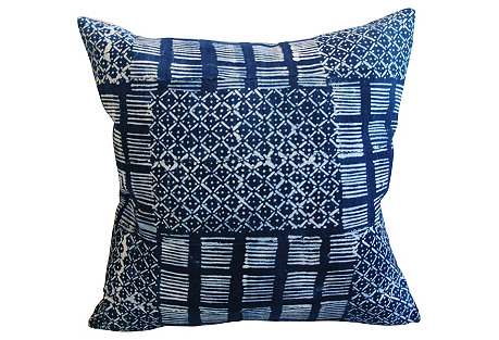 Handwoven Tribal Textile Pillows, Pair