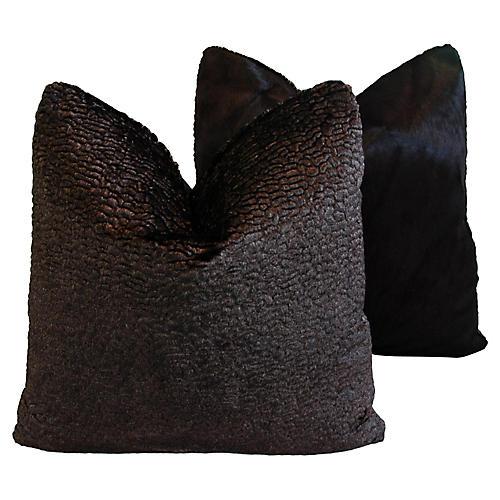 Lelievre of Paris & Cowhide Pillows, Pr