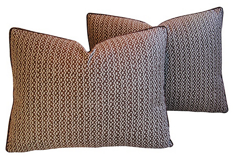 Italian Mariano Fortuny Tapa Pillows, Pr
