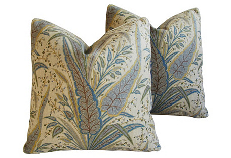 Cowtan Tout Victoria Paisley Pillows, Pr
