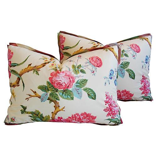 Brunschwig & Fils Coligny Pillows, Pair