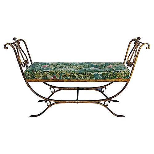 Scalamandré Marly Fabric Italian Settee