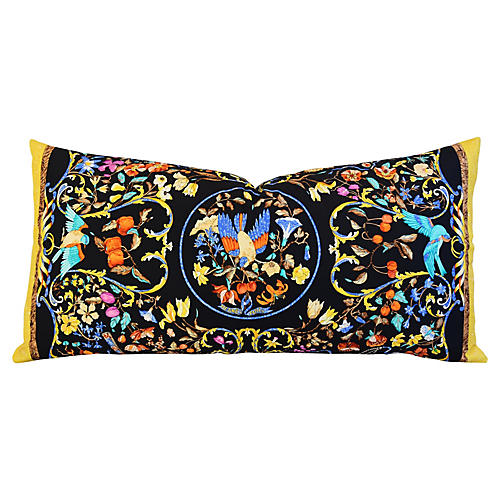 Hermès Annie Faivre Silk Bird Pillow