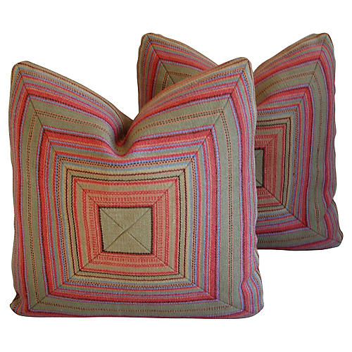 Old World Weavers & Leather Pillows, Pr