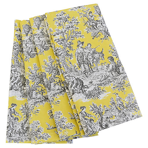 French Country Toile Napkins, S/4