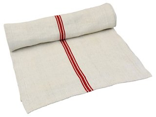 French Grain Sack Table Runner   Holiday Tabletop   Entertaining   Holiday  | One Kings Lane