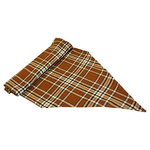 "Plaid Tartan Table Runner, 115""L"