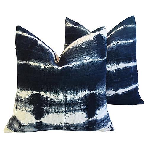 Mali Mud Cloth & Linen Tribal Pillow, Pr