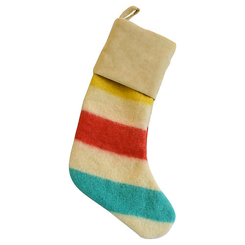 Hudson's Bay Blanket Christmas Stocking