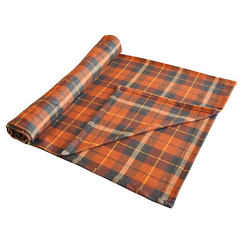 "Plaid Tartan Table Runner, 120""L"