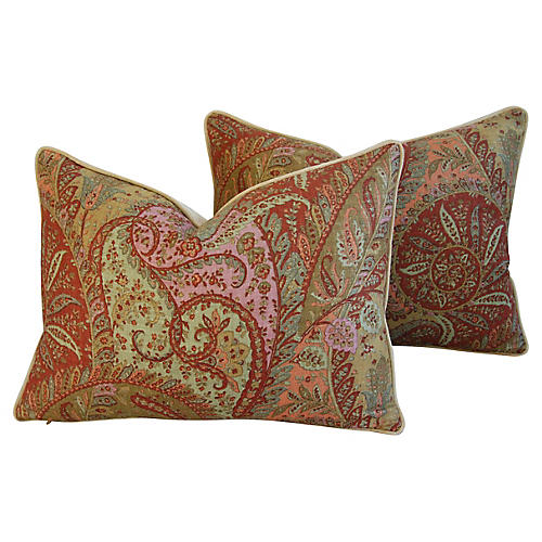 Brunschwig & Fils Paisley Pillows, Pair