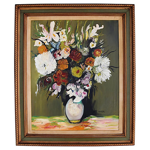 Colorful Floral Still Life by Navaira