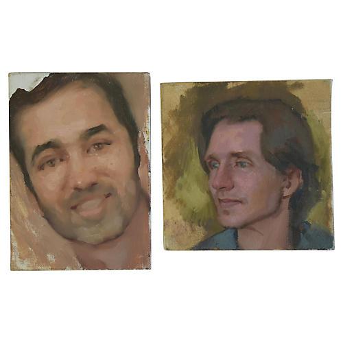 Male Portrait Oil Painting Study, S/2