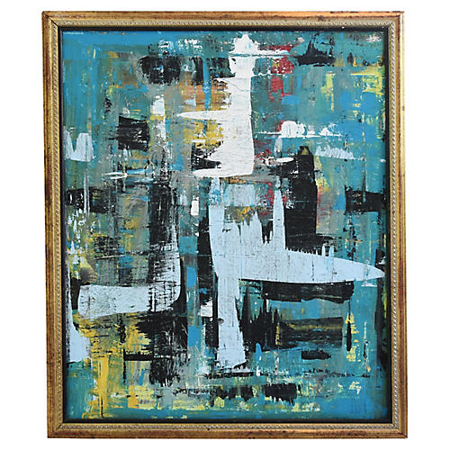 Midcentury Colorful Abstract, by Jensen