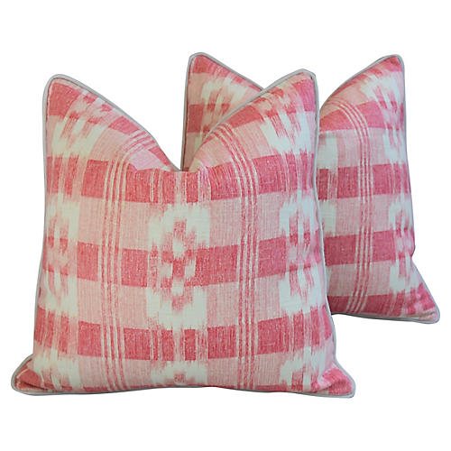 Brunschwig & Fils Pink/White Pillows, Pr