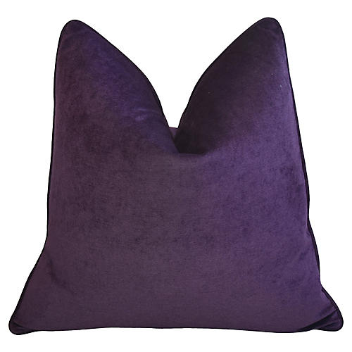 Ultra Violet Purple Velvet Pillow