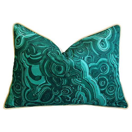 Jim Thompson Malachite Green Pillow