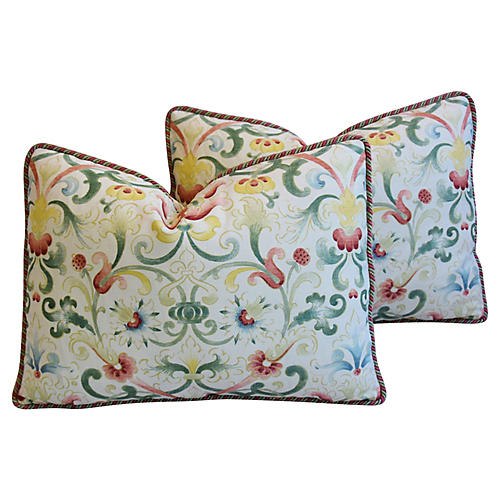 Zoffany Parterre Floral Pillows, Pair