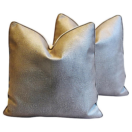 Eldeman Stingray Leather Pillows, Pr