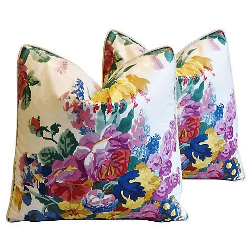 Hazelton House Floral Pillows, Pair