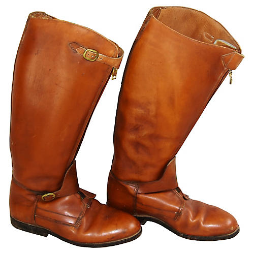 Equestrian Riding Polo Leather Boots