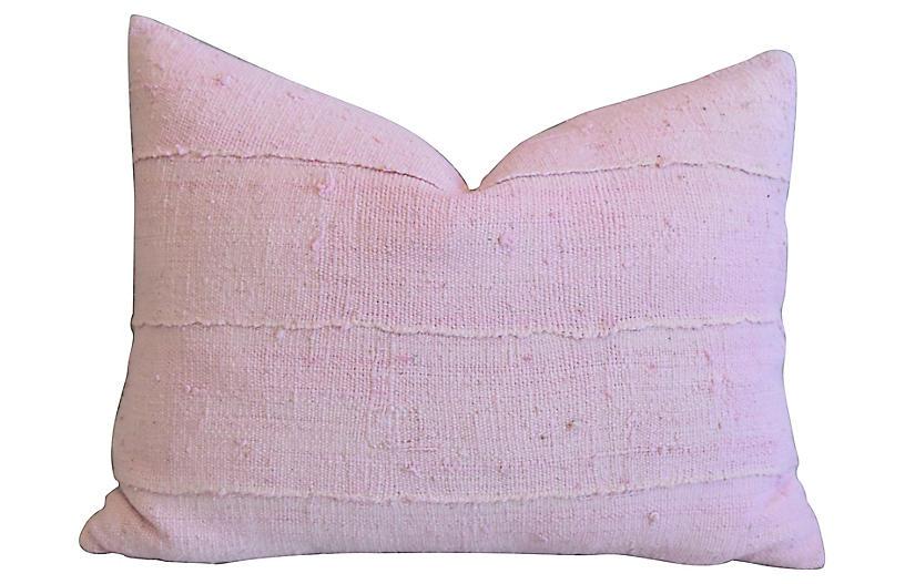 Pastel Pink African & Velvet Pillow