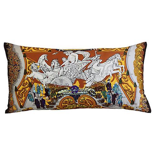 Hermès Annie Faivre Silk Scarf Pillow