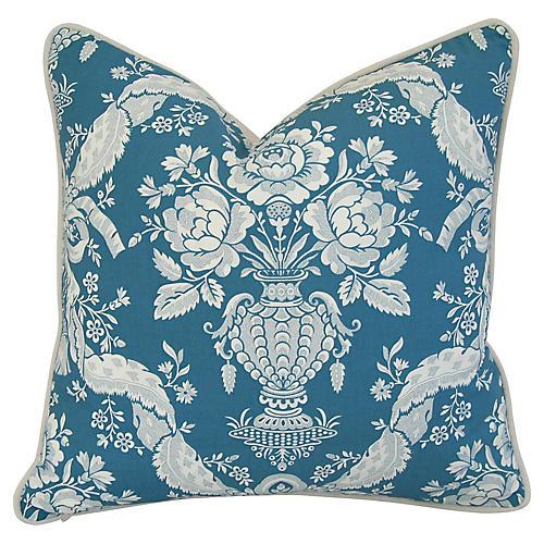 French Marius Boudin Blue & White Pillow
