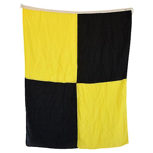 """Maritime Nautical Naval Signal """"L"""" Flag"""