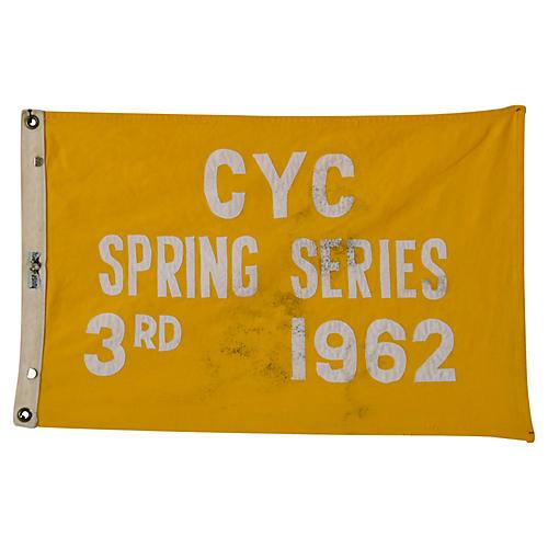 1962 Cleveland Yacht Club Trophy Flag