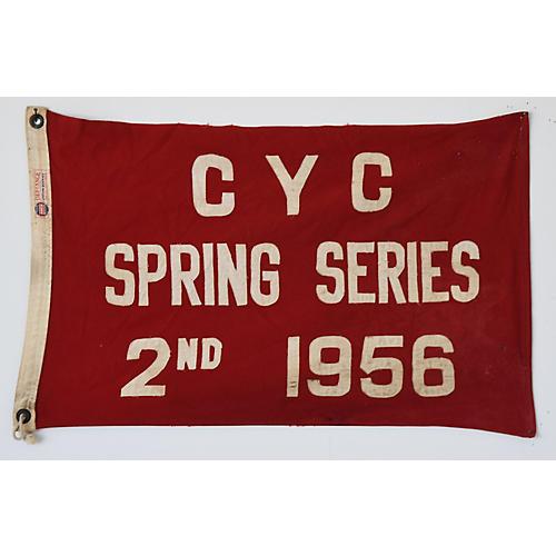 1956 Cleveland Yacht Club Trophy Flag