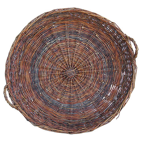 Large Woven Willow Grape Harvest Basket