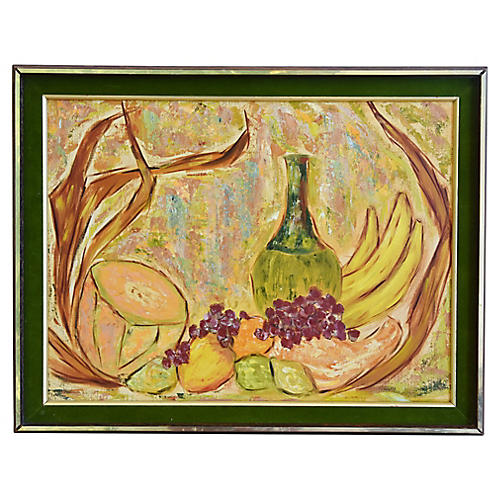Midcentury Abstract Tablescape w/ Fruit
