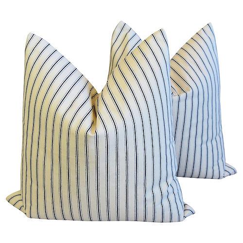 New England Nautical Striped Pillows, Pr