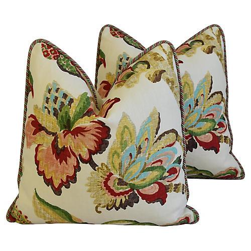 Schumacher Kelmscott Manor Pillows, Pair