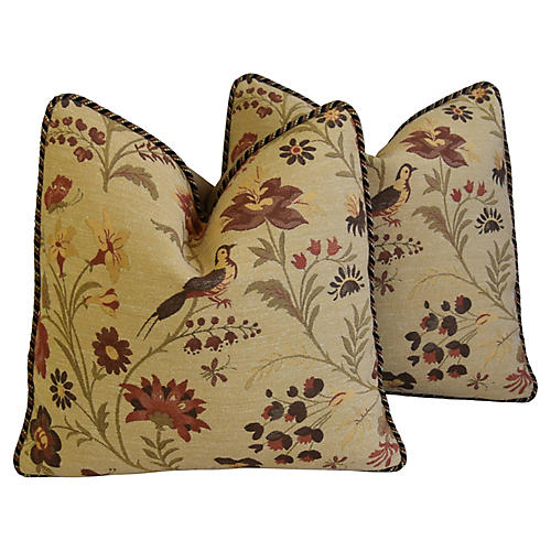 Beacon Hill Goldfinch/Velvet Pillows, Pr