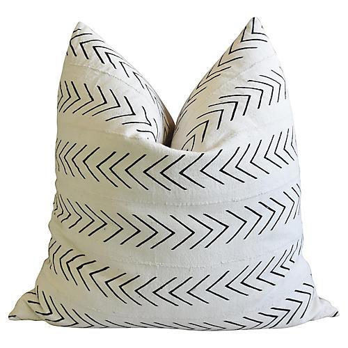 "Jumbo 32"" White & Black Pillow Cushion"