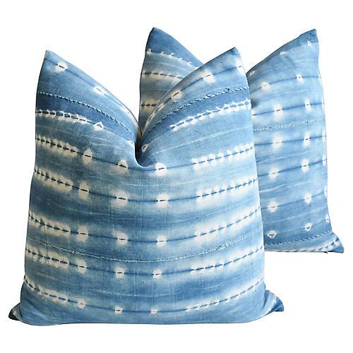 Boho-Chic Mali Tribal Design Pillows, Pr