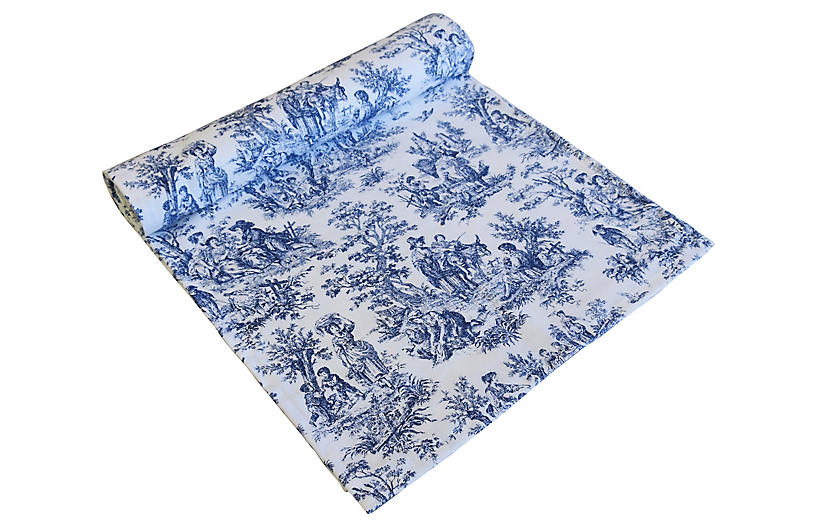 Blue & White Country Toile Table Runner
