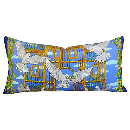 Hermès Joachim Metz Doves Silk Pillow