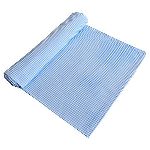 Pale Blue & White Gingham Table Runner