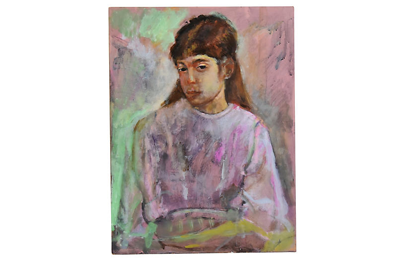 1950s Eliot Freedman Young Girl Portrait - Mike Seratt of
