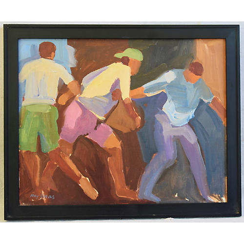 Ray Cuevas, Plein Air Oil Young Athletes
