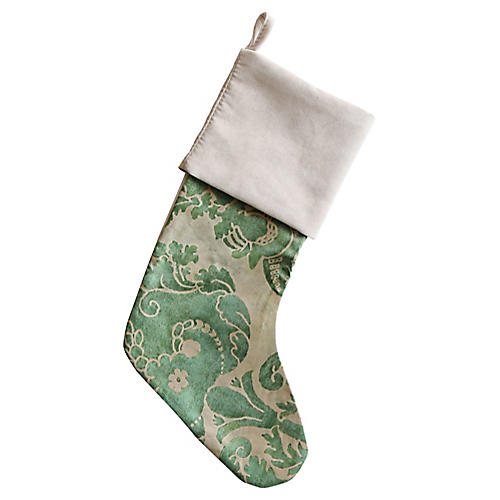 Italian Fortuny Christmas Stocking